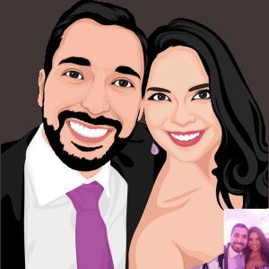 קריקטורה מצוירת לזוגות-1